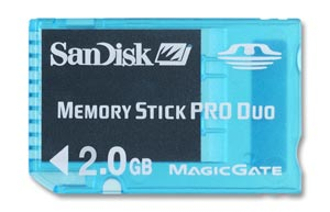 Memory Stick PRO Duo™ 2 GB SanDisk