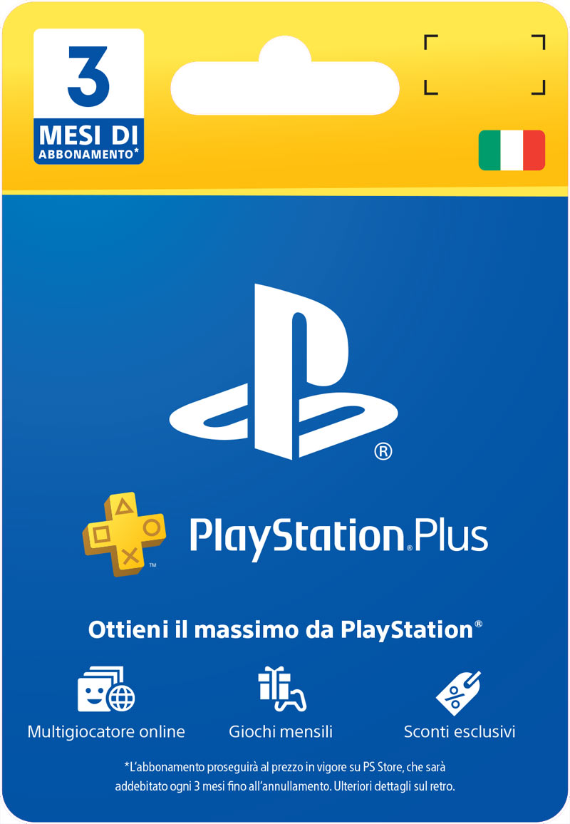 PlayStation Plus Card 3 Mesi  (Fisico)
