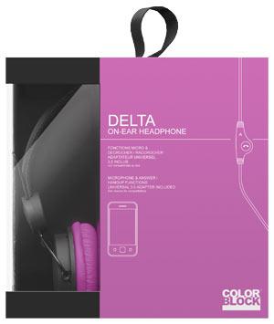 Cuffie Colorblock Delta per Cellulare