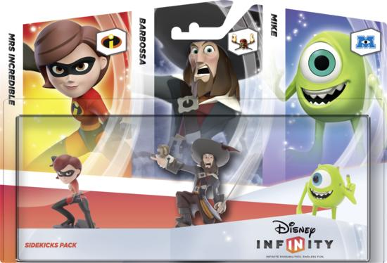 Disney Infinity Sidekicks 3 - Helen Parr - Mike - Barbossa