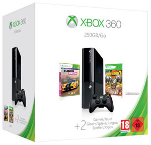 Xbox 360 250GB + Forza Horizon + Borderlands 2