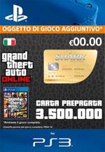 GTA Online - 3.500.000$ - Carta Prepagata Squalo Balena