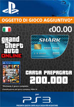 GTA Online - 200.000$ - Carta Prepagata Tiger Shark