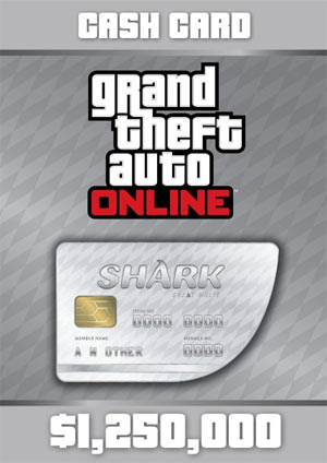 GTA V - Carta Prepagata Great White Shark $1,250,000 PS3