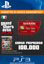 GTA Online - 100.000$ - Carta Prepagata Red Shark