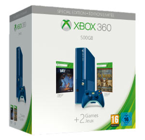 Xbox 360 500GB Blu Esclusiva GameStop