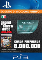 GTA Online - 8.000.000$ - Carta Prepagata Megalodon Shark
