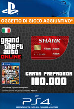 GTA Online - 100.000$ - Carta Prepagata Red Shark