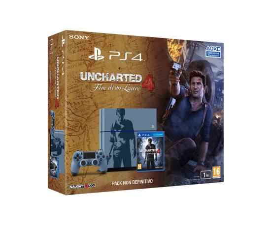 PS4 1TB Limited Edition + Uncharted 4: Fine di un Ladro