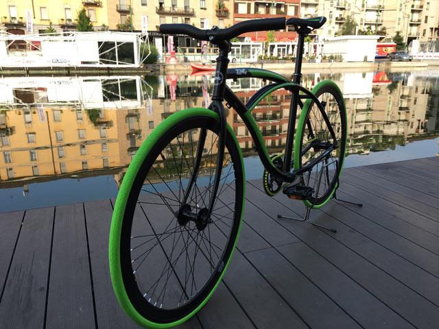 Bicicletta Zing Single Speed Verde Nera Gamestop Italia