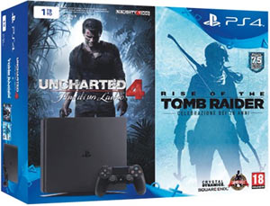 PS4 Slim 1TB + Uncharted 4 + Rise of the Tomb Raider