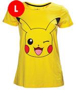 T-Shirt Pokémon - Pikachu Occhiolino - Taglia L Donna