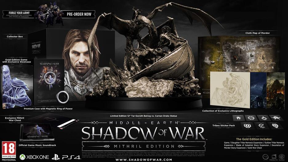 La Terra di Mezzo: L'Ombra della Guerra - Mithril Edition