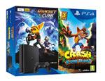 PS4 Slim 1TB + Ratchet & Clank + Crash Bandicoot N. Sane Trilogy