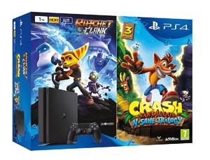 647368c497ae67 PS4 Slim 1TB + Ratchet & Clank + Crash Bandicoot N. Sane Trilogy ...