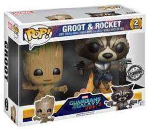 Funko pop! guardiani della galassia groot & rocket gamestop italia