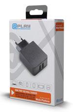 Caricatore @Play - USB Doppio da Muro