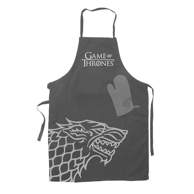 Grembiule e guanti da cucina game of thrones casa stark gamestop italia - Guanti da cucina ...