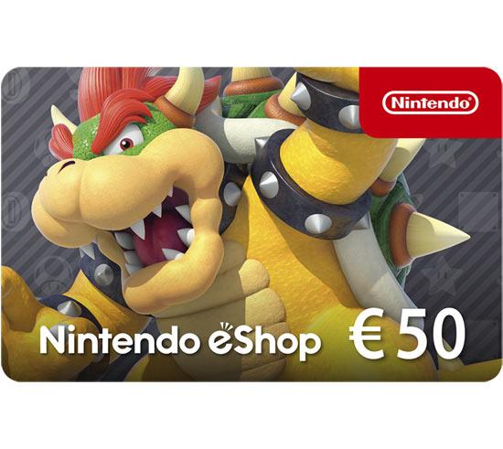 Ricarica Nintendo eShop 50€