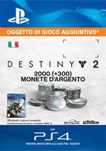 Destiny 2 - 2000 + 300 Monete Argento