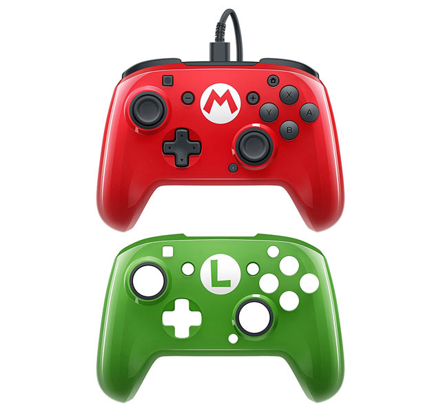 Pro Controller PDP - Faceoff Deluxe Mario Edition