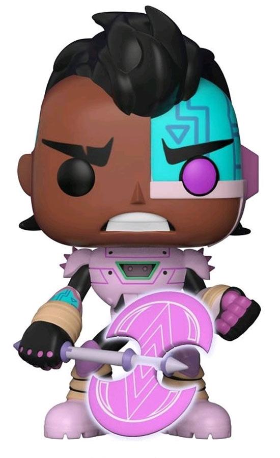 Funko pop! cyborg con ascia glow in the dark gamestop italia