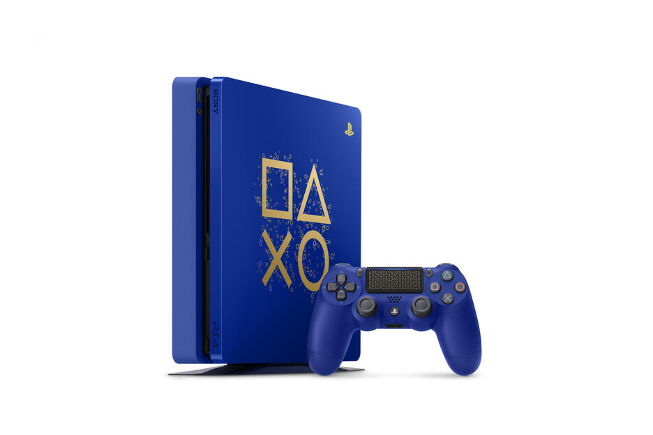 PS4 Slim 500GB - Days Of Play Limited Edition + 2° DUALSHOCK 4