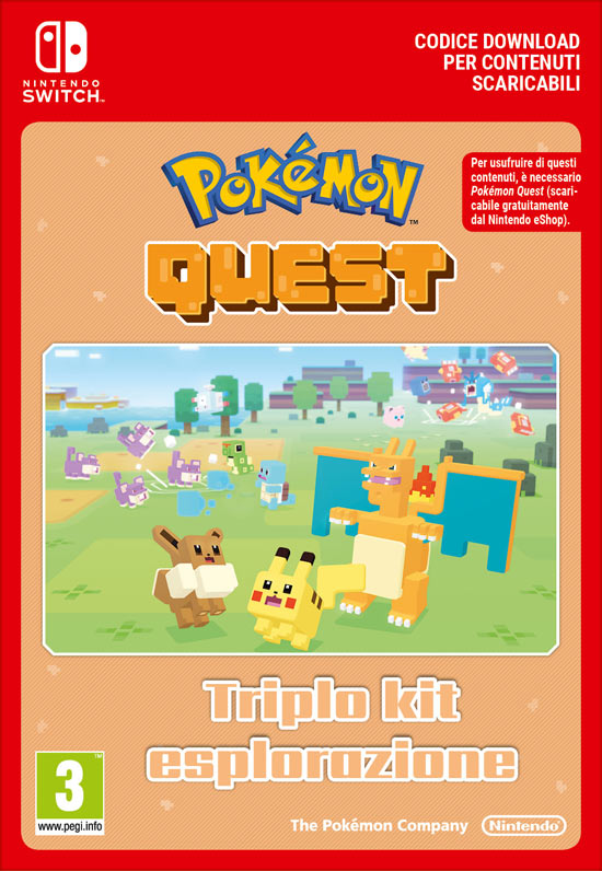 Pokémon Quest - Triplo Kit Esplorazione