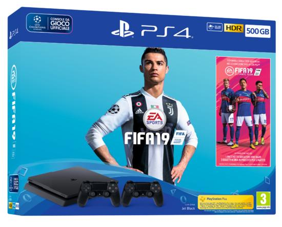 PS4 Slim 500GB + FIFA 19 + 2° Dualshock 4