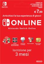 Abbonamento Nintendo Switch Online - 3 Mesi