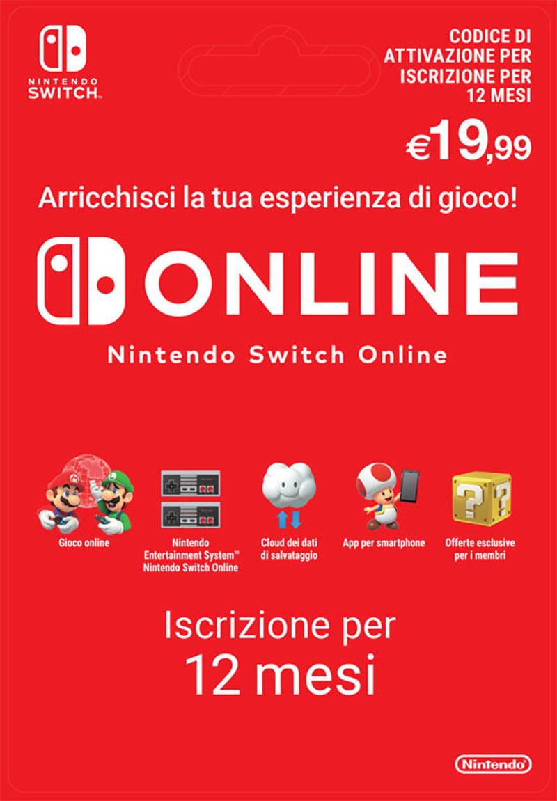 Abbonamento Nintendo Switch Online - 12 Mesi