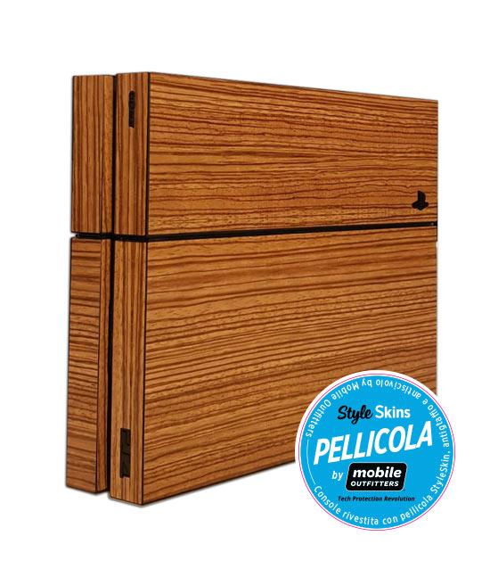 PS4 500GB + Pellicola Legno (Mobile Outfitters)