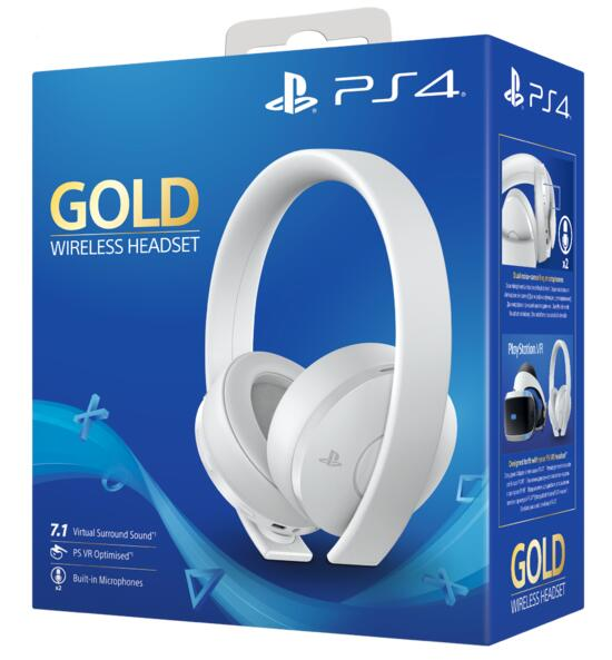 Cuffie PlayStation 4 - Gold Wireless Headset (Bianco)