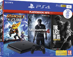 PS4 Slim 1TB + Ratchet & Clank + The Last of Us Remastered + Uncharted 4 (PlayStation Hits)