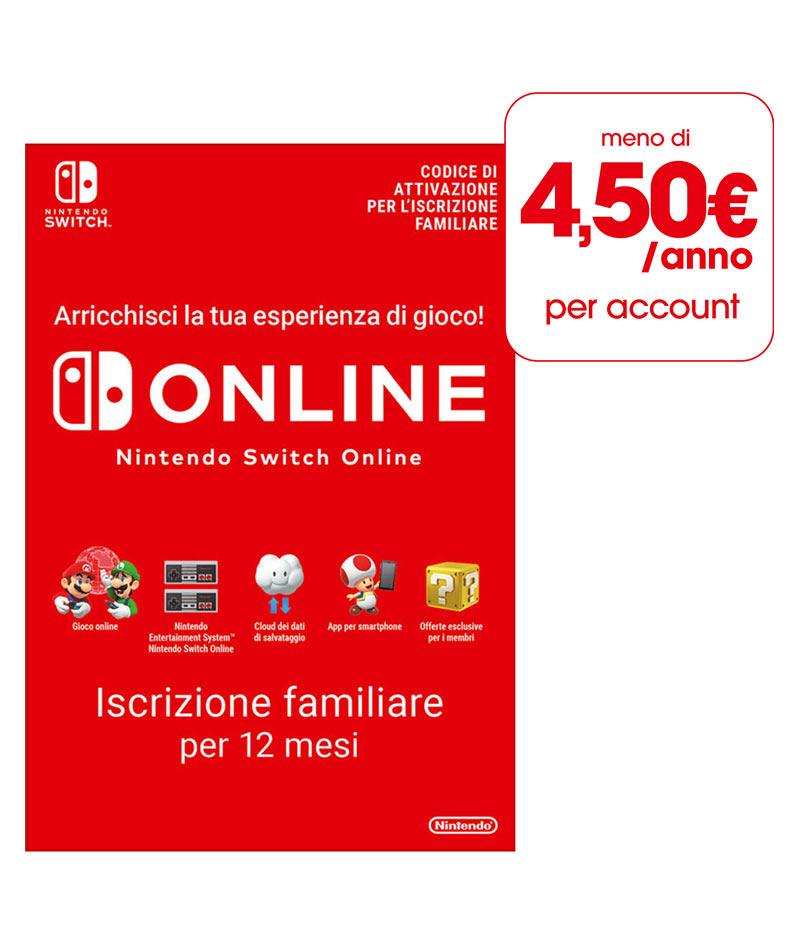 Abbonamento Nintendo Switch Online - 12 Mesi (Iscrizione Familiare)