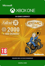 Fallout 76 - 2000 (+400 Bonus) Atoms - Xbox one