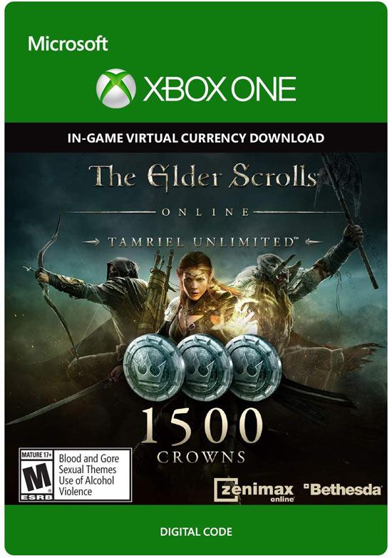 the elder scrolls online - 1500 crown pack