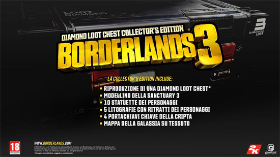 Borderlands 3 - Diamond Loot Chest Collector's Edition (Non include il Gioco)