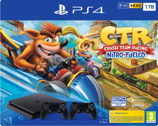 PS4 Slim 1TB + Crash Team Racing Nitro-Fueled + Due DualShock