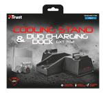 Base verticale Trust - GXT 702 con Ventola di raffreddamento e Dock ricarica duale