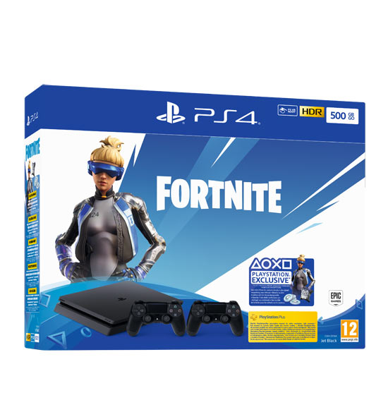 PS4 500GB + 2 DualShock 4 + Voucher Fortnite