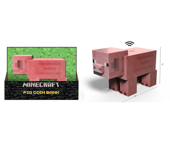 Salvadanaio Maiale Minecraft