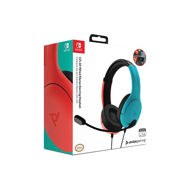 Headset PDP - LVL40 Blu e Rosso