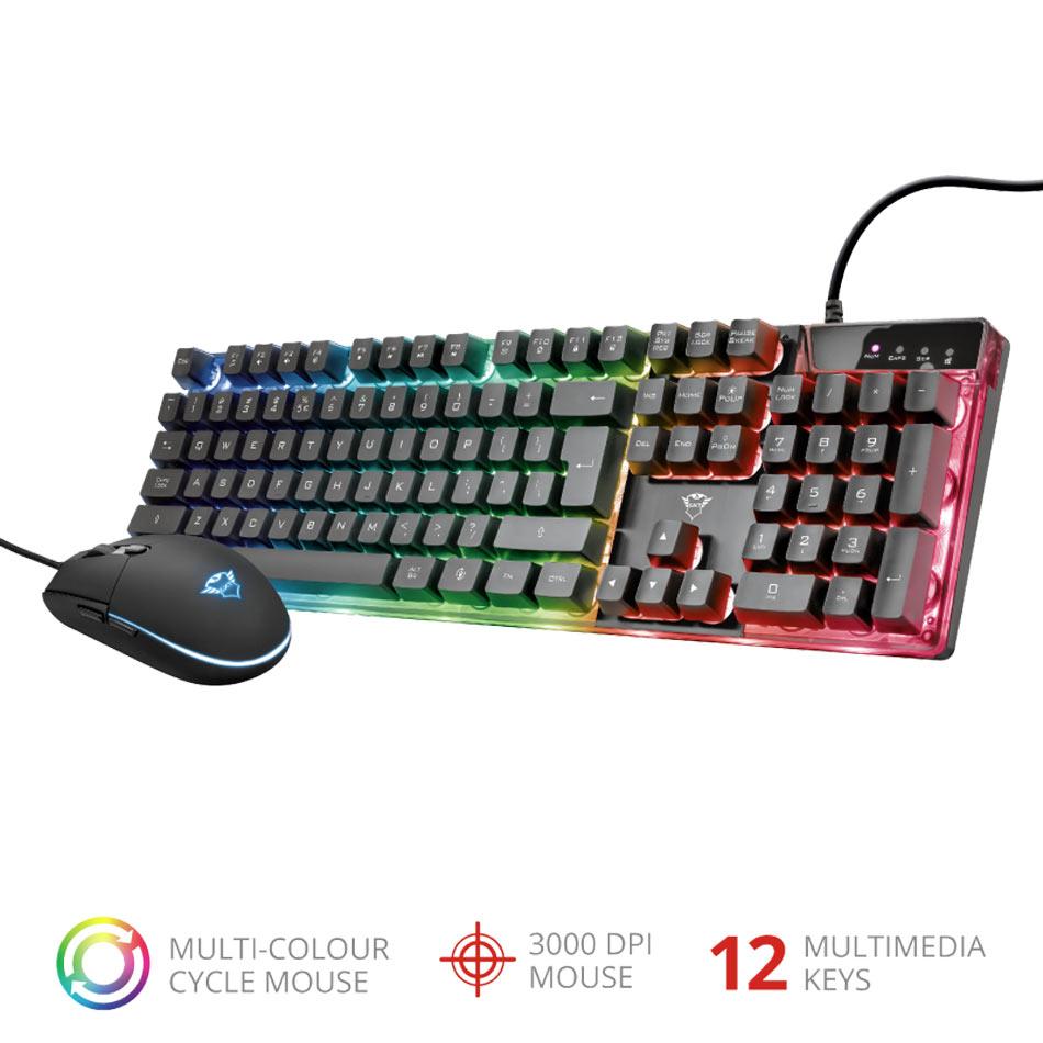 Mouse + Tastiera Trust - GXT 838 Azor - PC