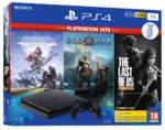 PS4 1TB + The Last Of Us + Horizon Zero Dawn + God Of War (Playstation Hits)