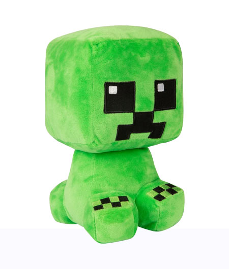 Peluche Minecraft - Creeper (Crafter) - 22 cm