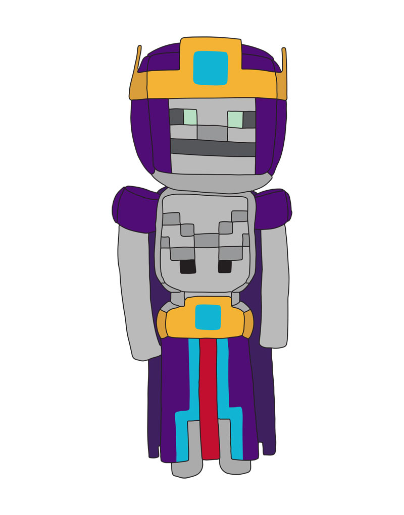 Peluche Minecraft - Necromancer (Adventure) - 31 cm