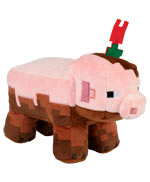 Peluche Minecraft - Muddy Pig (Adventure) - 25 cm