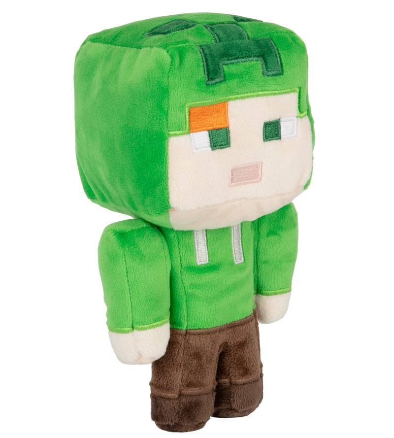 Peluche Minecraft - Alex Creeper (Happy Explorer) - 18 cm