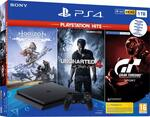 PS4 1TB + Horizon Zero Dawn + Uncharted 4 + Gran Turismo Sport (PlayStation Hits)